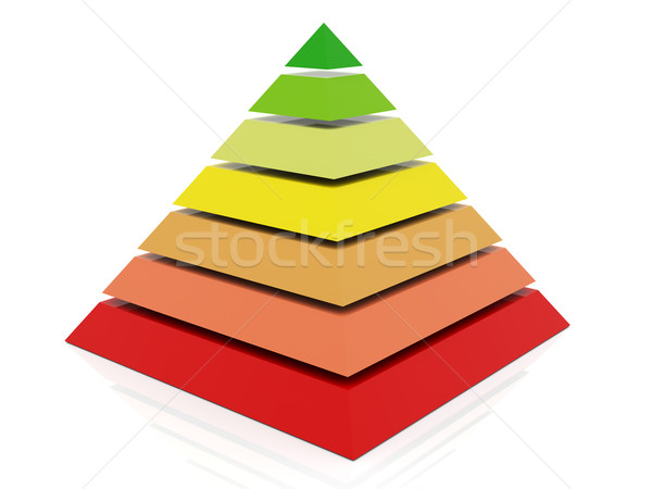 3d colorful pyramid Stock photo © nasirkhan