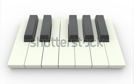 3d piano keys Stock photo © nasirkhan
