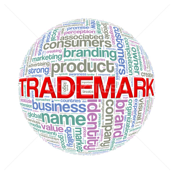 Wordcloud word tags ball of trademark Stock photo © nasirkhan
