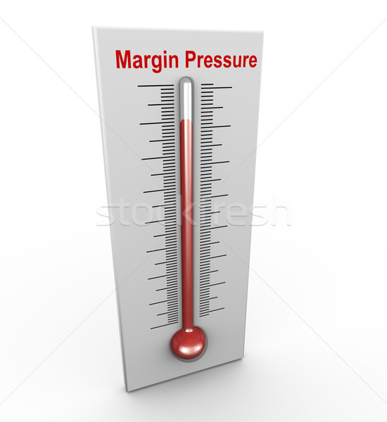 3d buzzword margin pressure Stock photo © nasirkhan