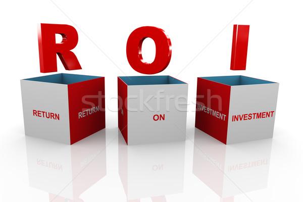 3D vak roi terugkeren investering 3d illustration Stockfoto © nasirkhan