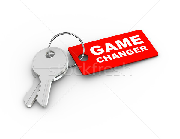 Stock photo: 3d game changer keychain