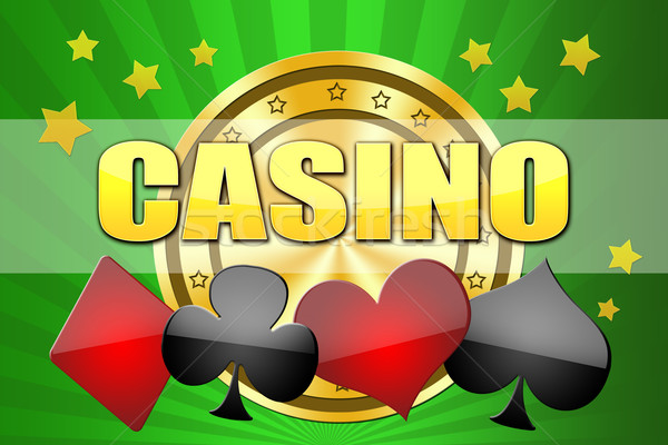 Illustration design casino jeu ordinateur coeur Photo stock © Natali_Brill