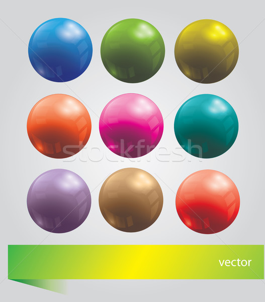 Bright  set with balls Stock photo © Natali_Brill