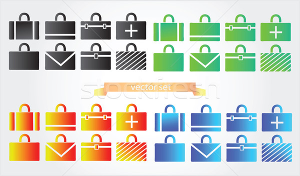 Case icons variants of briefcase  Stock photo © Natali_Brill