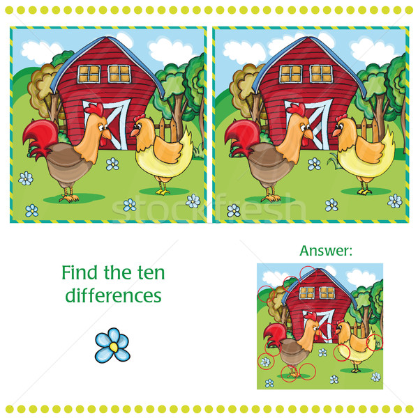 Game for children - find ten differences Stock photo © Natali_Brill