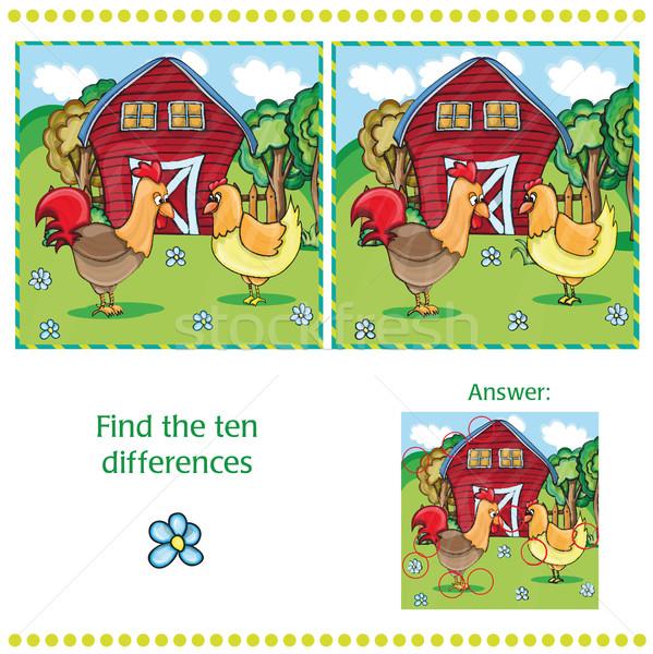 игры детей находить десять различия фермы Сток-фото © Natali_Brill