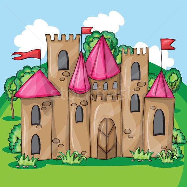 Cartoon сказка замок смешные вектора ребенка Сток-фото © Natali_Brill