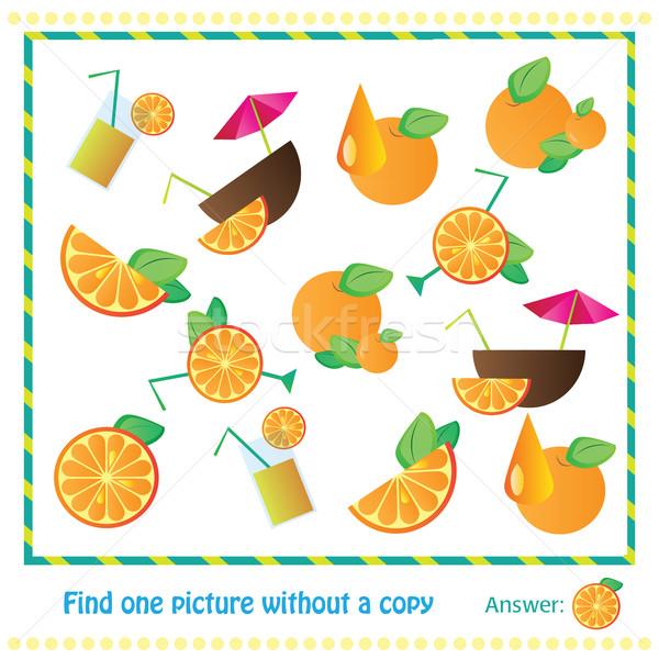 Illustrazione educativo gioco bambini trovare foto Foto d'archivio © Natali_Brill