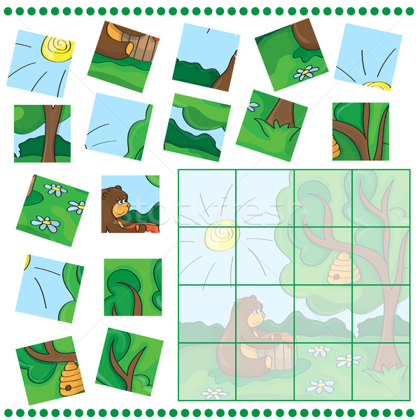 éducation puzzle jeu enfants image Photo stock © Natali_Brill
