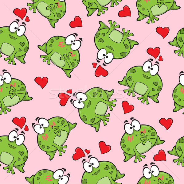 Sweet seamless pattern with frogs  Stock photo © Natali_Brill