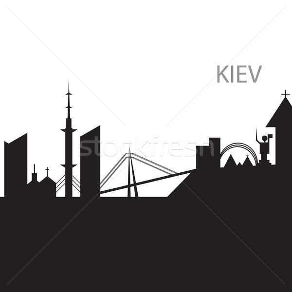 Bianco nero silhouette business cielo città Foto d'archivio © Natali_Brill