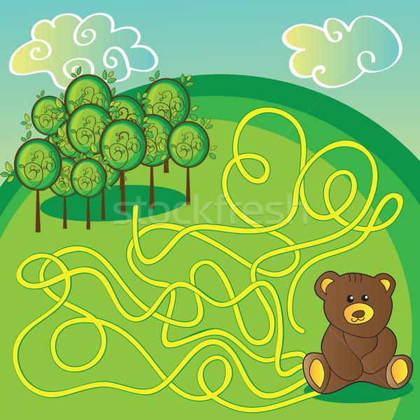 Labirinto jogo atividade página ajudar tenha Foto stock © Natali_Brill