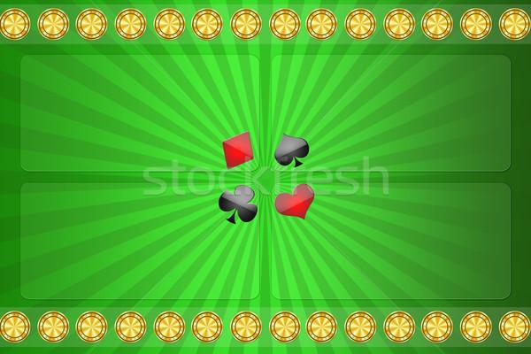 Verde casino computer cuore sport frame Foto d'archivio © Natali_Brill