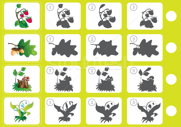 Stock photo: Match shadow - Worksheet for education