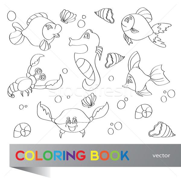 Coloring book - marine life Stock photo © Natali_Brill