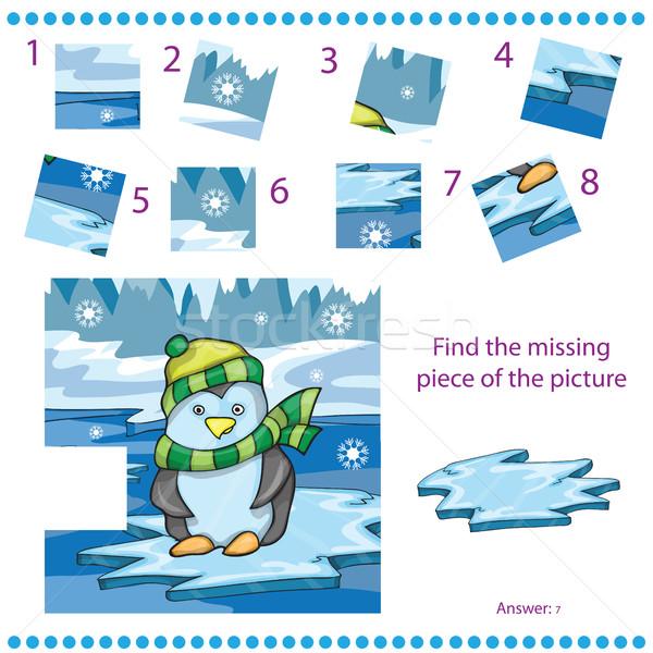 見つける 行方不明 作品 ゲーム 子供 ペンギン ストックフォト © Natali_Brill