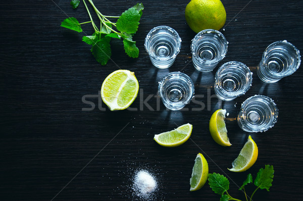 Plata tequila tradicional mexicano beber uno Foto stock © Natali_Brill