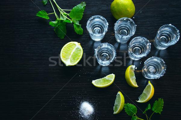 Prata tequila tradicional mexicano beber um Foto stock © Natali_Brill