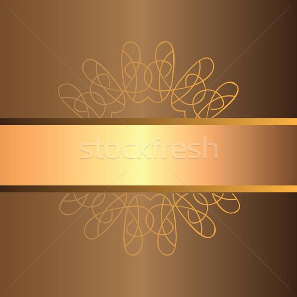 Vettore abstract decorativo retro banner Foto d'archivio © Natali_Brill