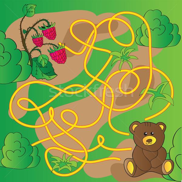 Cartoon illustrazione istruzione labirinto labirinto gioco Foto d'archivio © Natali_Brill