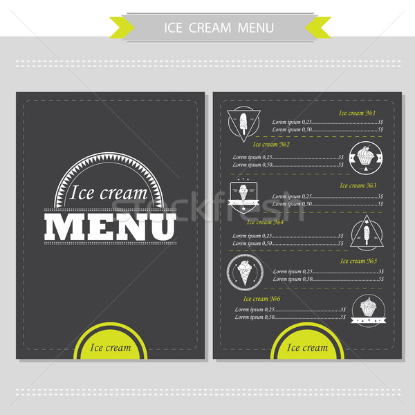 Menu for restaurant, cafe, bar, coffeehouse Stock photo © Natali_Brill