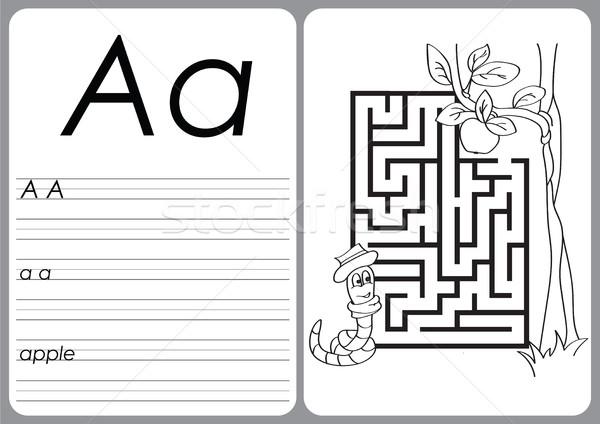 アルファベット パズル 塗り絵の本 子供 学生 教育 ストックフォト © Natali_Brill