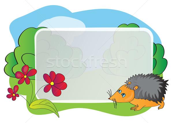 Stock photo: Vector bright frame