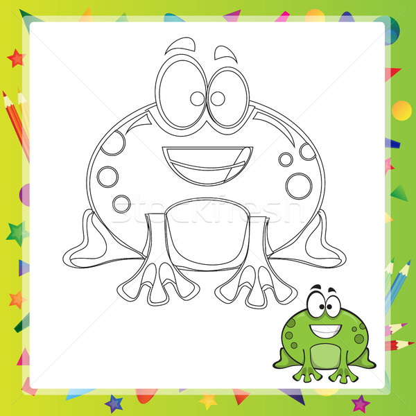 illustration of Cartoon frog Stock photo © Natali_Brill