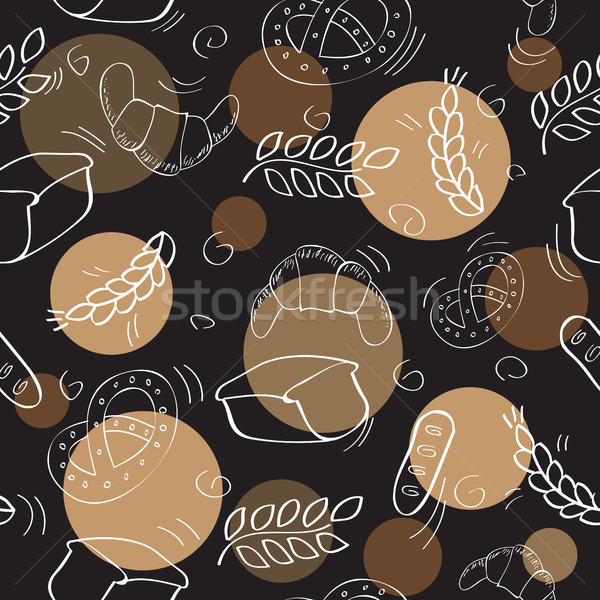 Seamless pattern with bakery products Stock photo © Natali_Brill