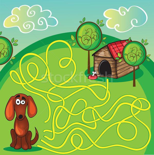Cartoon образование лабиринт лабиринт игры Сток-фото © Natali_Brill