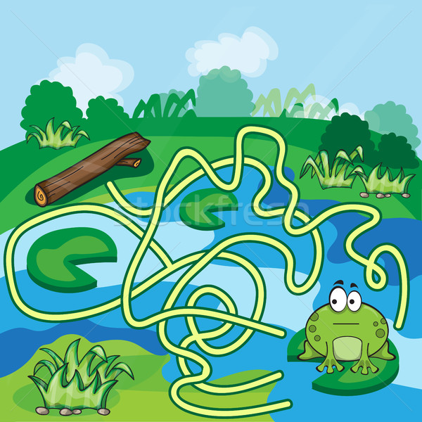 Stock photo: Frogs Maze Game