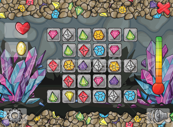 コンピュータ ゲーム Webデザイン 実例 ボタン 芸術 ストックフォト © Natali_Brill