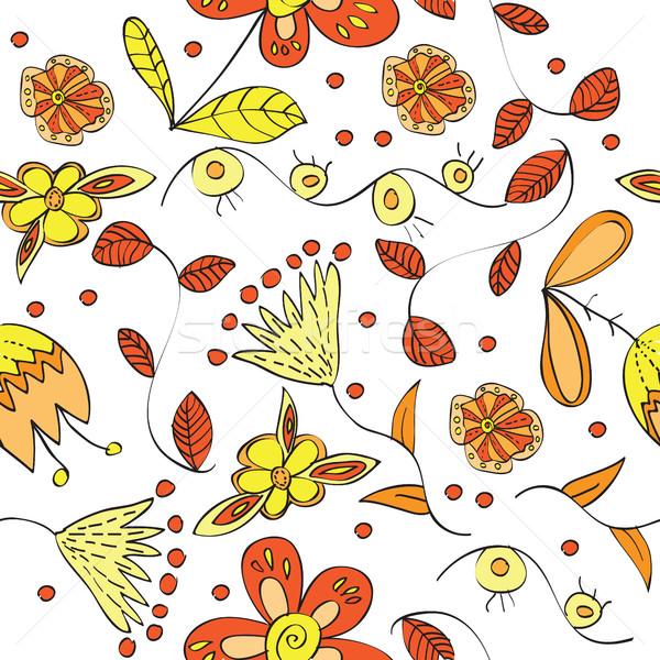 vector floral  seamless pattern  Stock photo © Natali_Brill
