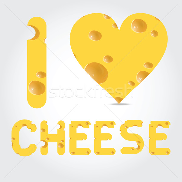 Vector  illustration with cheese Stock photo © Natali_Brill