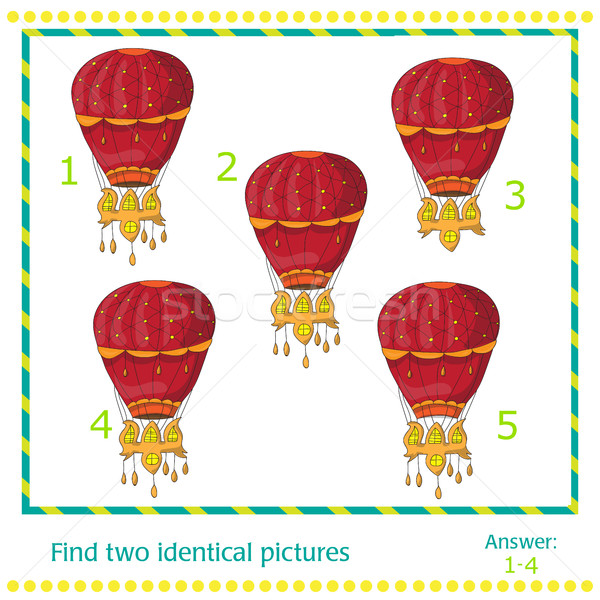 hot air balloons - game for children Stock photo © Natali_Brill