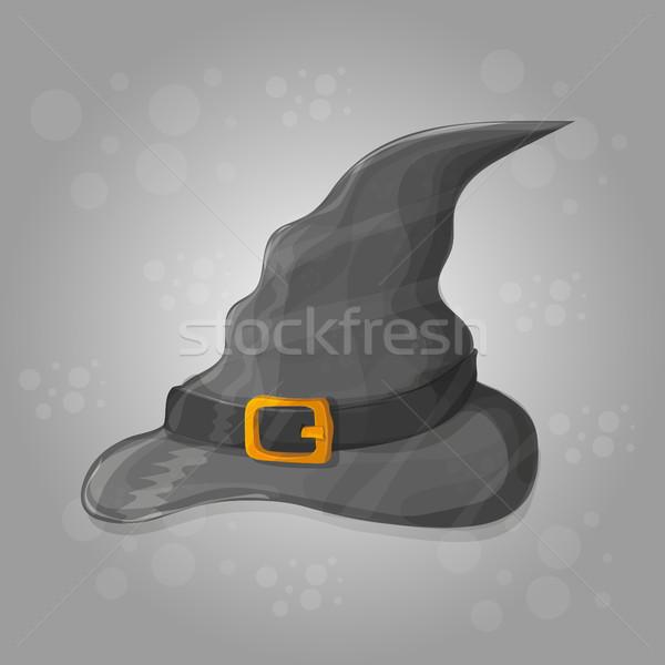 Ilustracja wysoki kapelusz czarownicy streszczenie halloween karty Zdjęcia stock © Natali_Brill