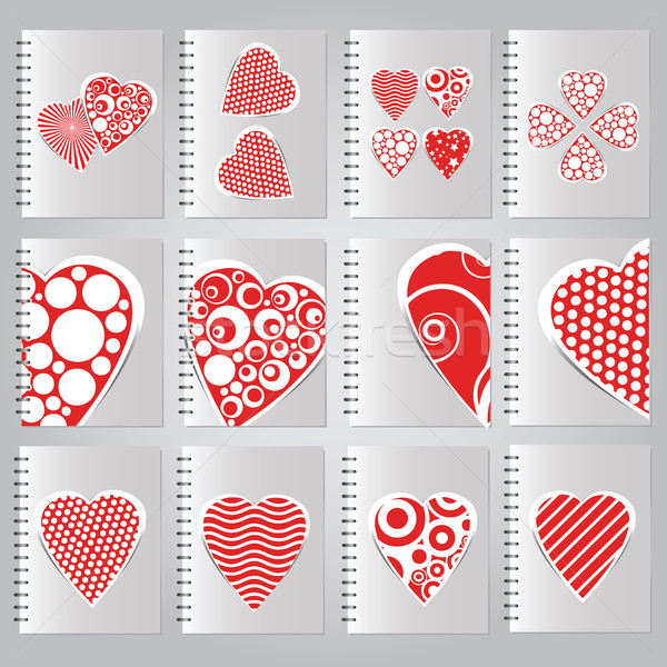 Set of covers for notebooks Stock photo © Natali_Brill