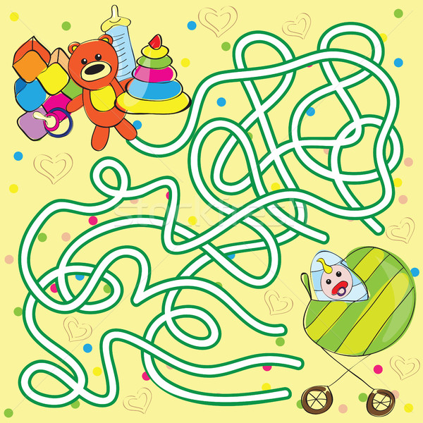 Maze for kids - help the baby to get toys Stock photo © Natali_Brill