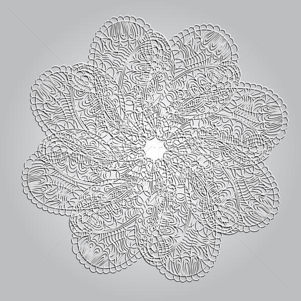 Foto stock: Círculo · ornamento · mandala · renda · abstrato