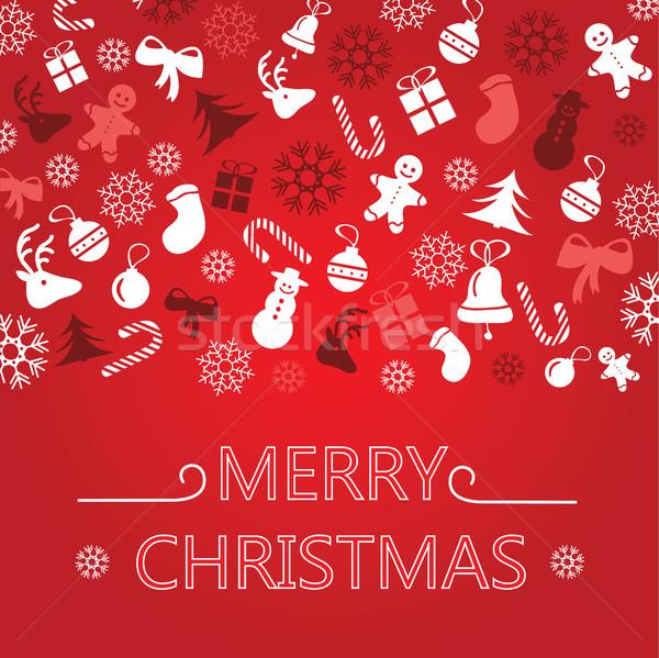 Christmas Greeting Card Stock photo © Natali_Brill