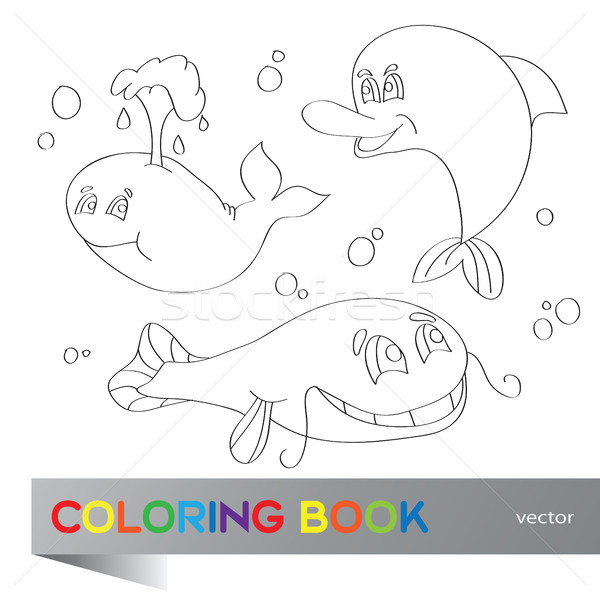 Coloring book - marine life Stock photo © Natali_Brill