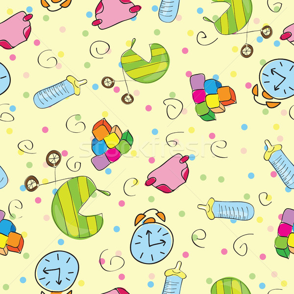 Variedad juguetes feliz marco diversión pelota Foto stock © Natali_Brill