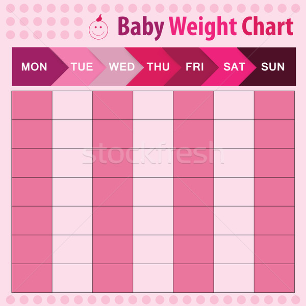 baby weight chart Stock photo © Natali_Brill