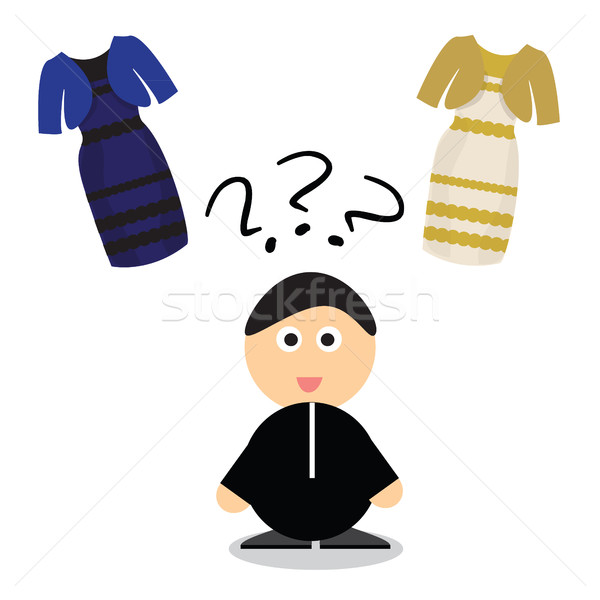 Puzzle quoi couleur robe blanche or Photo stock © Natali_Brill
