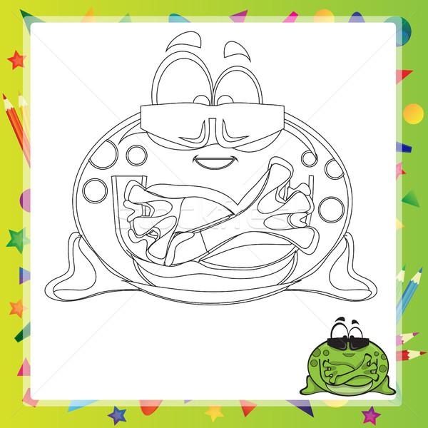 実例 漫画 カエル 塗り絵の本 笑顔 図書 ストックフォト © Natali_Brill