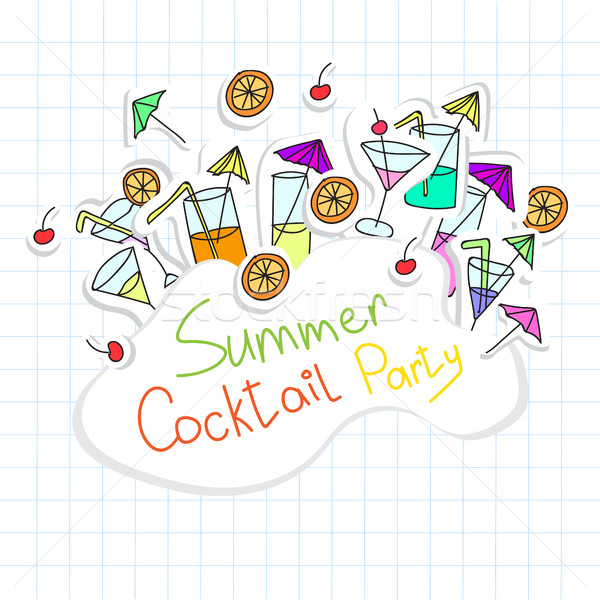 Vector Illustration of Cocktail Party card Stock photo © Natali_Brill