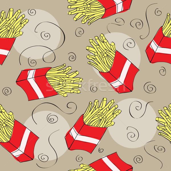 Fast food seamless pattern background Stock photo © Natali_Brill