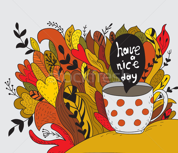 Have a nice day. Autumn doodle Stock photo © Natali_Brill