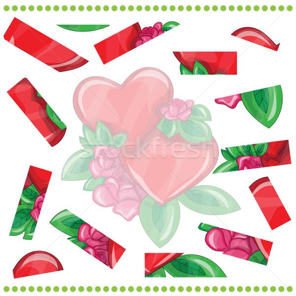 Stockfoto: Spel · kinderen · liefde · groene · handdruk